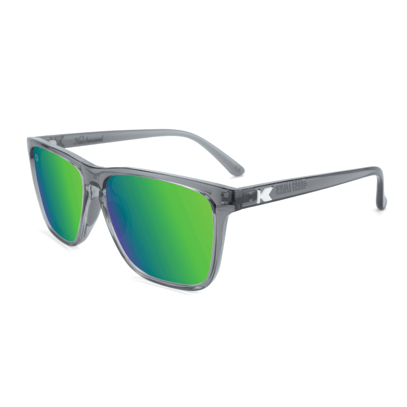 lenoor crown knockaround fast lanes sport sunglasses clear grey green moonshine