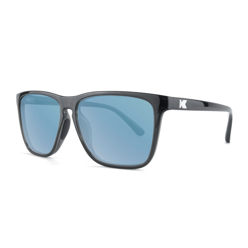 lenoor crown knockaround fast lanes sport sunglasses jelly black sky blue