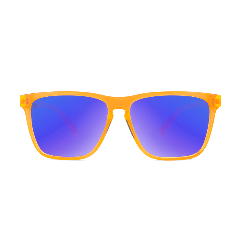 lenoor crown knockaround fast lanes sport sunglasses neon orange moonshine