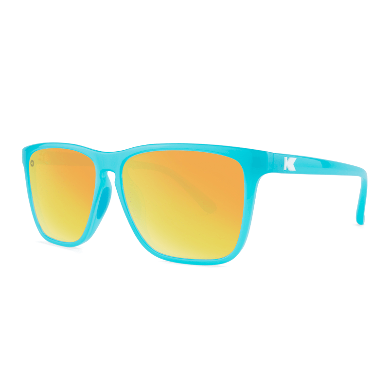 lenoor crown knockaround fast lanes sport sunglasses pool blue sunset