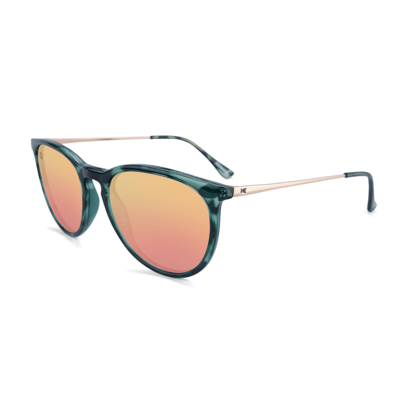 lenoor crown knockaround mary janes sunglasses slate tortoise shell rose gold