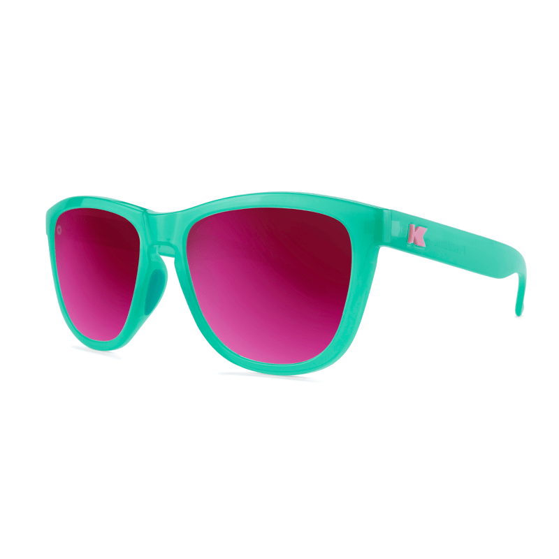 lenoor crown knockaround premiums sport sunglasses aquamarine fuschia