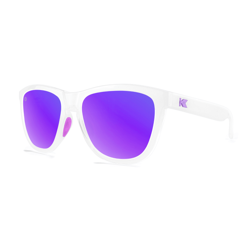 lenoor crown knockaround premiums sport sunglasses clear jelly purple
