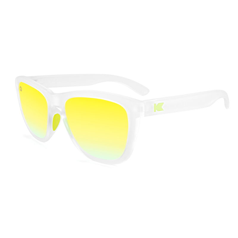 lenoor crown knockaround premiums sport sunglasses Rubberized Clear Yellow Green
