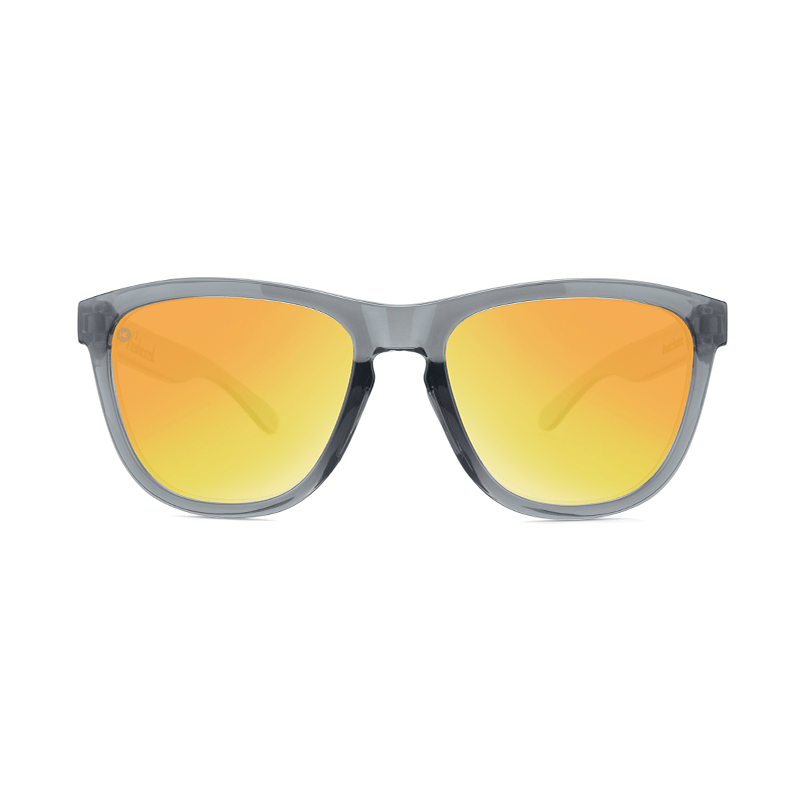 lenoor crown knockaround premiums sport sunglasses clear grey sunset