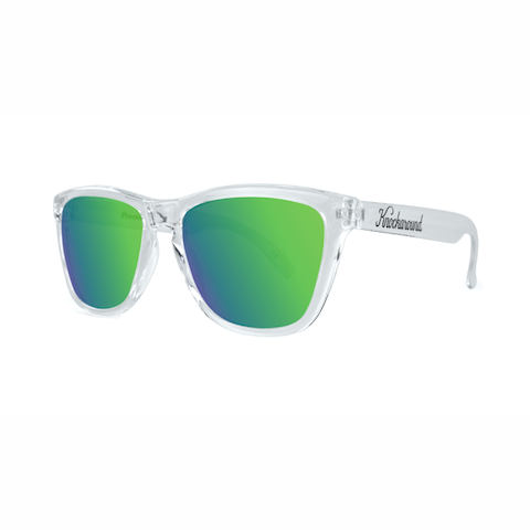 lenoor crown knockaround classics sunglasses glossy clear green moonshine