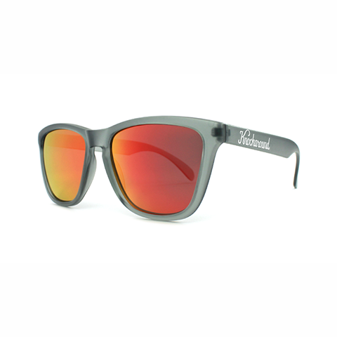 lenoor crown knockaround classics sunglasses frosted grey red sunset