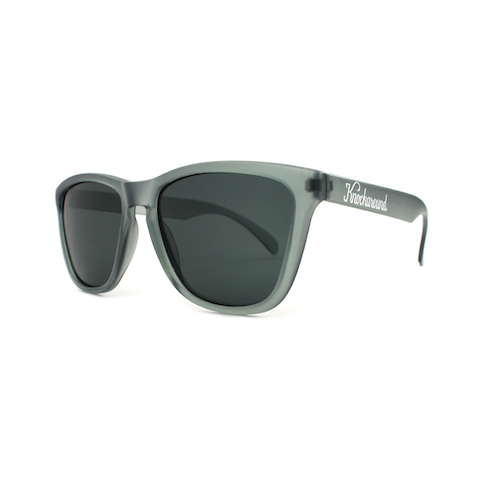 lenoor crown knockaround classics sunglasses frosted grey smoke