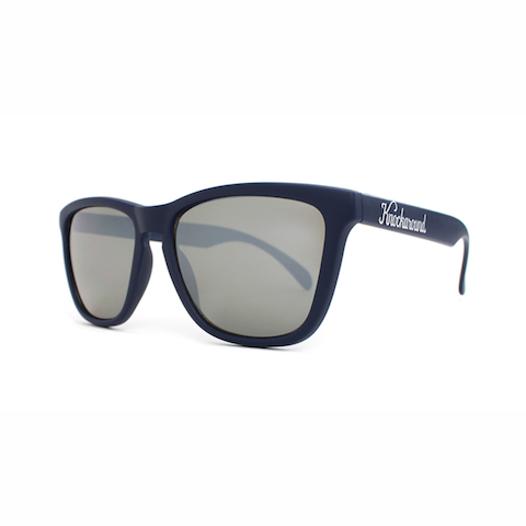 lenoor crown knockaround classics sunglasses matte midnight navy blue smoke