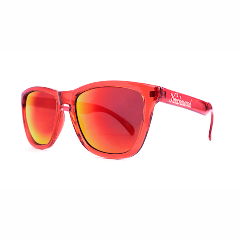lenoor crown knockaround classics sunglasses red monochrome