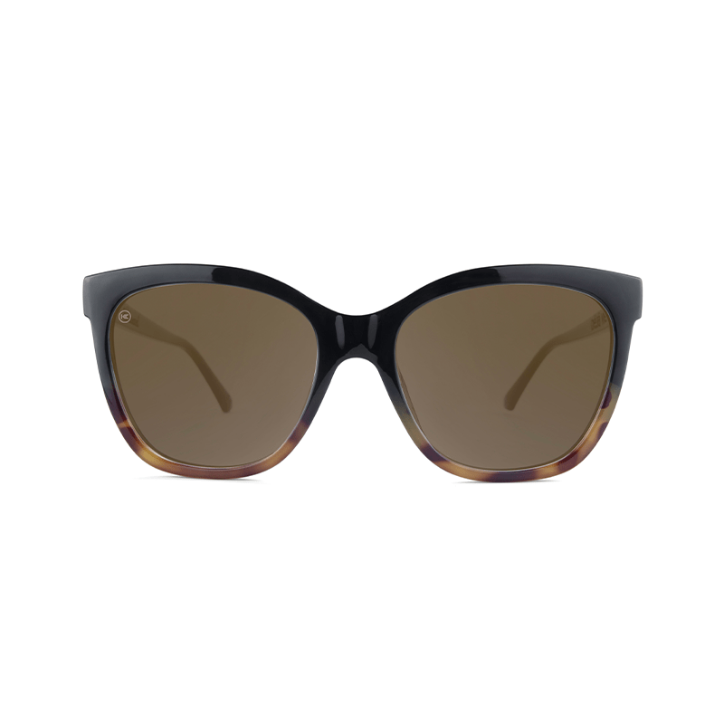 lenoor crown knockaround deja views sunglasses black and blonde tortoise shell amber