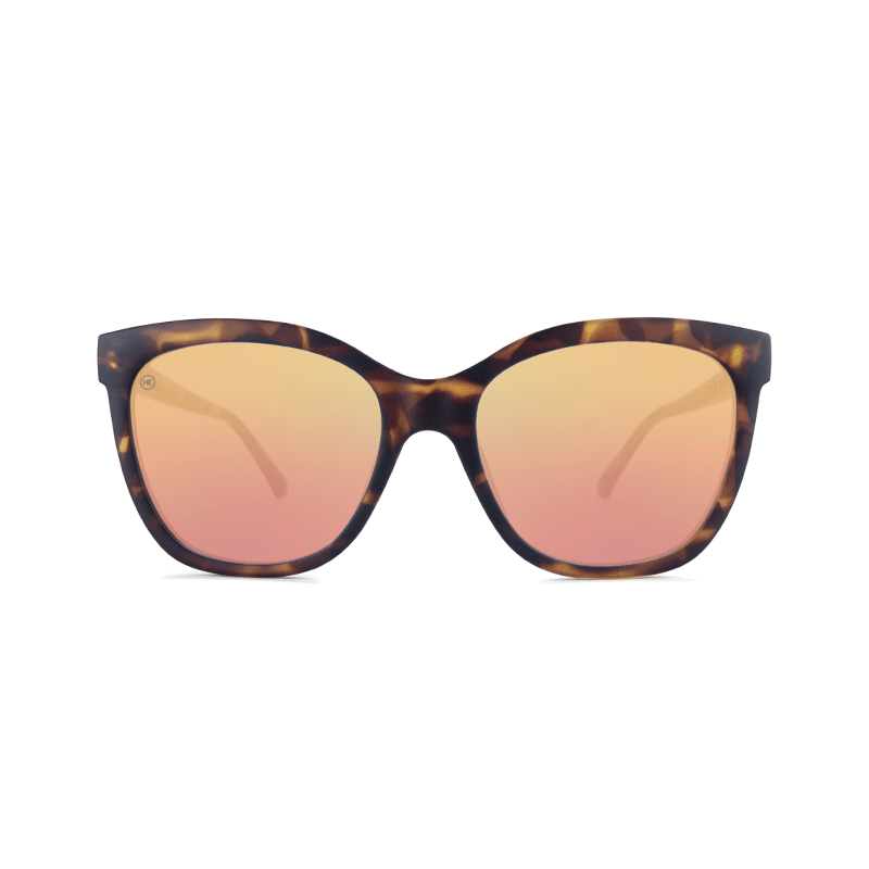 lenoor crown knockaround deja views sunglasses tortoise shell rose gold