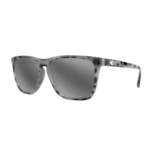 lenoor crown knockaround fast lanes sunglasses granite tortoise shell silver smoke