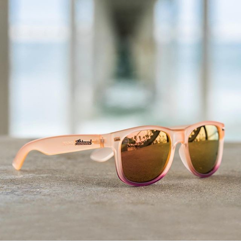 lenoor crown knockaround fort knocks sunglasses frosted rose quartz fade rose