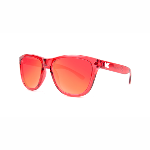 lenoor crown knockaround kids sunglasses red monochrome