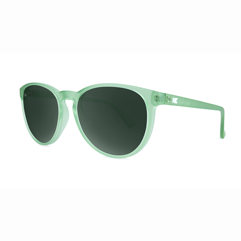 lenoor crown knockaround mai tais sunglasses frosted sea glass aviator green