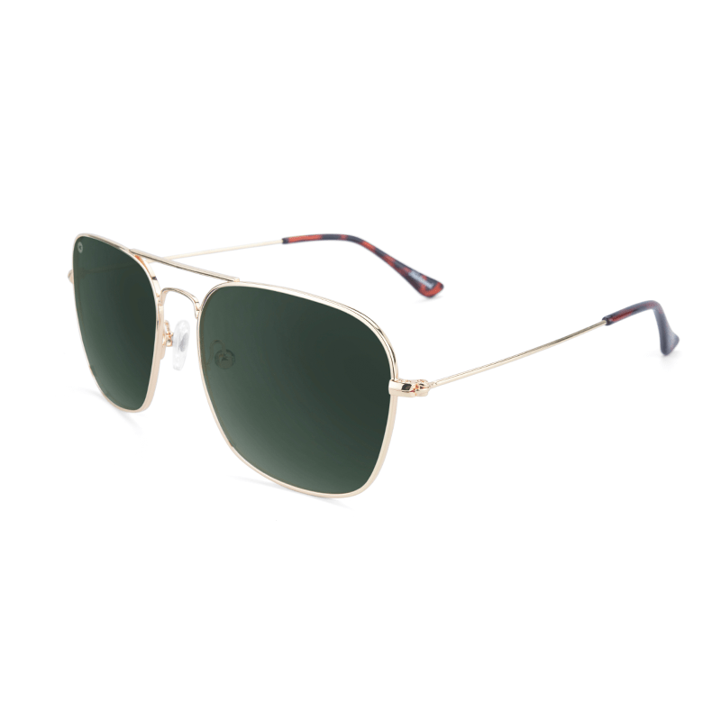 lenoor crown knockaround mount evans sunglasses gold aviator green