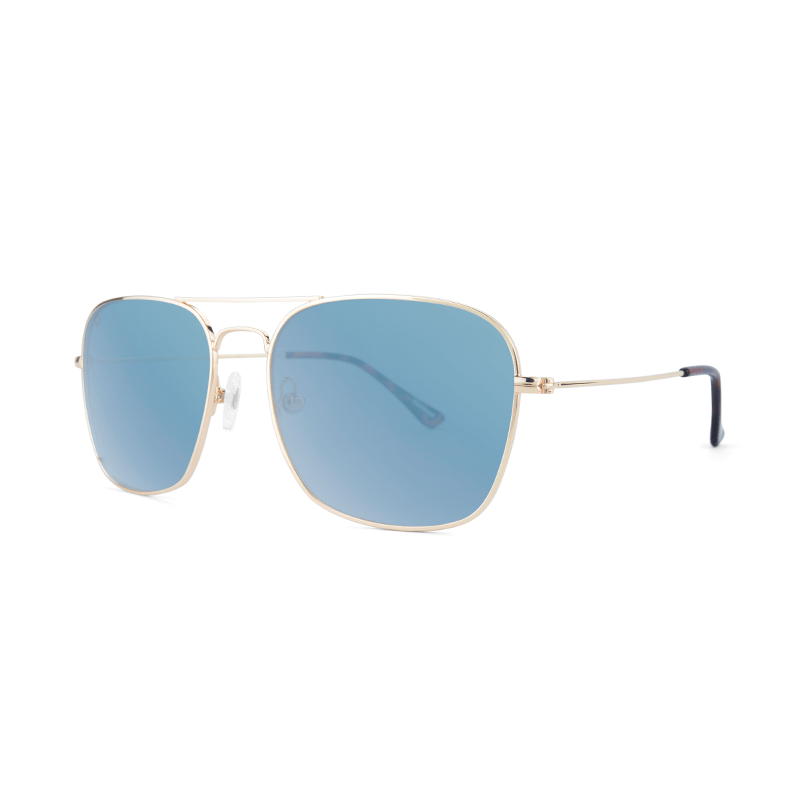 lenoor crown knockaround mount evans sunglasses gold sky blue