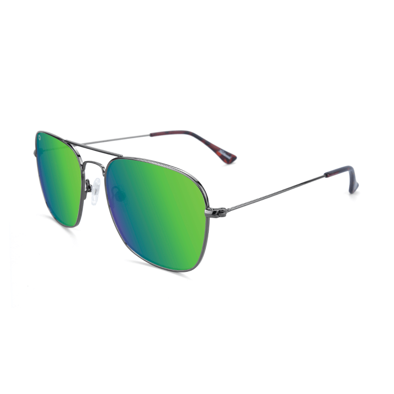 lenoor crown knockaround mount evans sunglasses gunmetal green moonshine