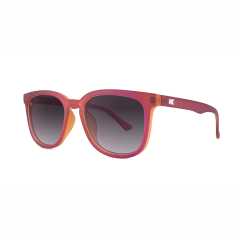 lenoor crown knockaround paso robles sunglasses frosted garnet smoke