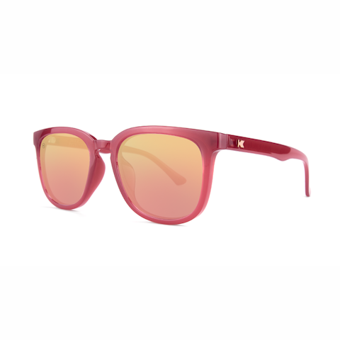 lenoor crown knockaround paso robles sunglasses glossy sangria rose gold