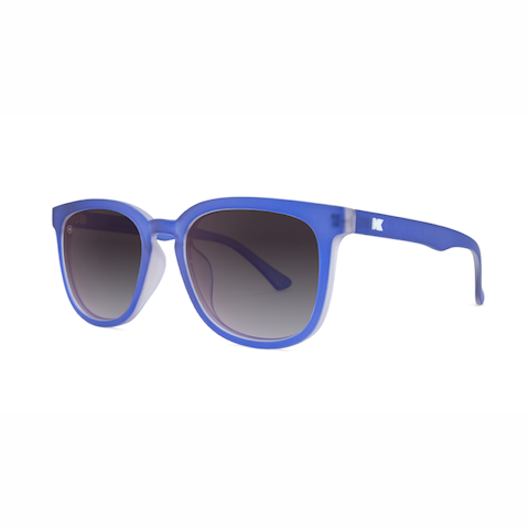 lenoor crown knockaround paso robles sunglasses frosted sapphire smoke