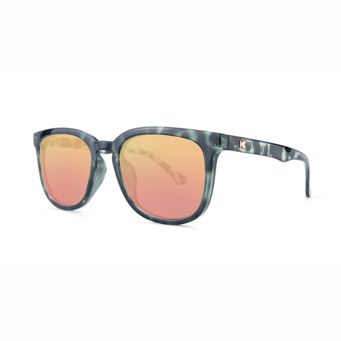 lenoor crown knockaround paso robles sunglasses slate tortoise shell rose gold