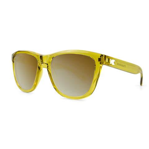 lenoor crown knockaround premiums sunglasses glossy amber monochrome