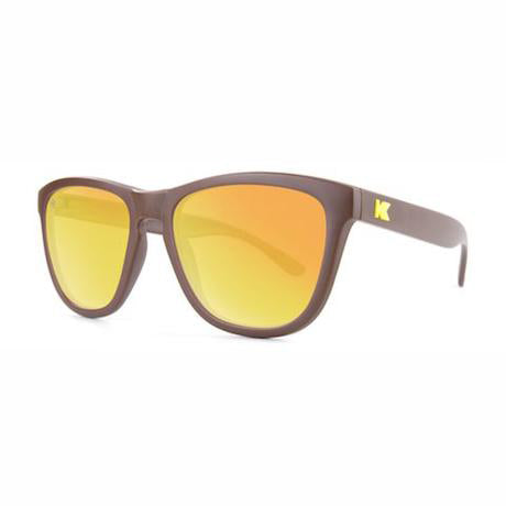 lenoor crown knockaround premiums sunglasses matte chocolate brown sunset