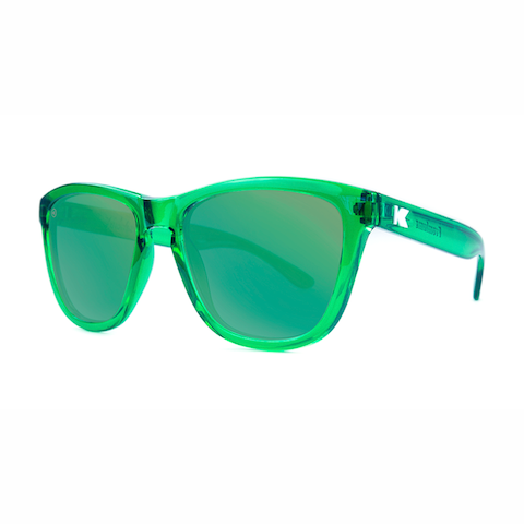 lenoor crown knockaround premiums sunglasses glossy green monochrome