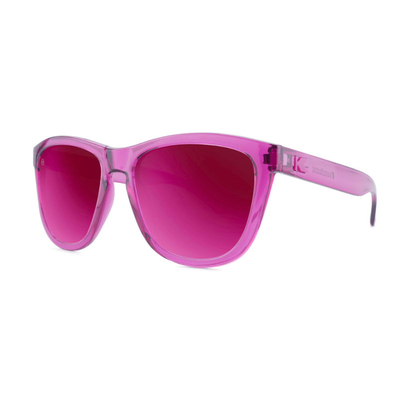 lenoor crown knockaround premiums sunglasses magenta monochrome