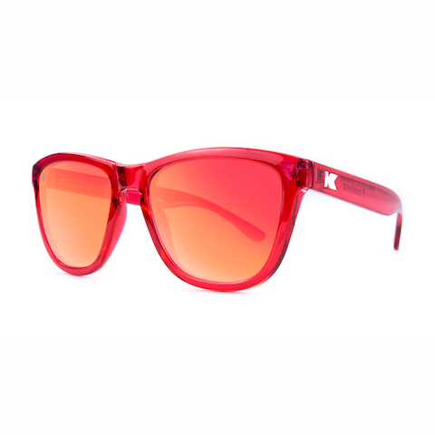 lenoor crown knockaround premiums sunglasses glossy red monochrome