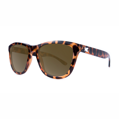 lenoor crown knockaround premiums sunglasses glossy tortoise shell amber