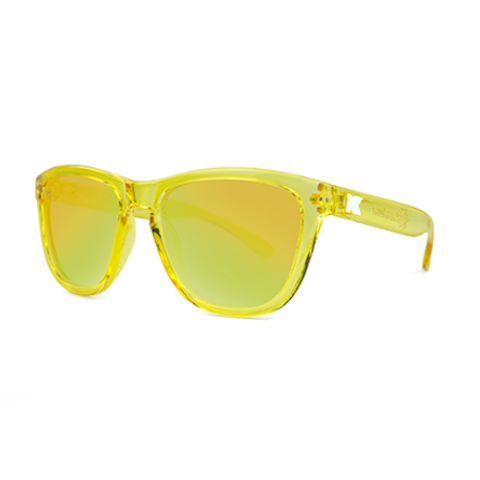 lenoor crown knockaround premiums sunglasses glossy yellow monochrome