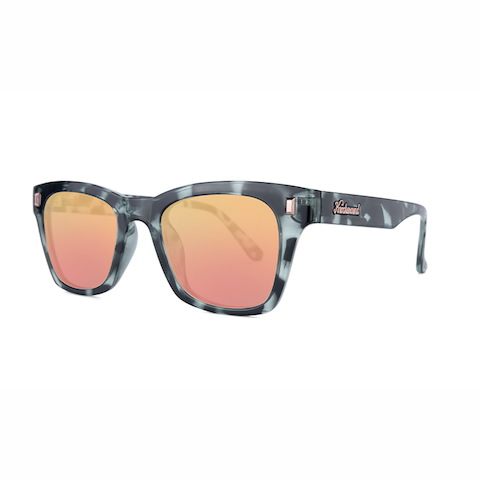 lenoor crown knockaround seventy nines sunglasses slate tortoise shell rose gold