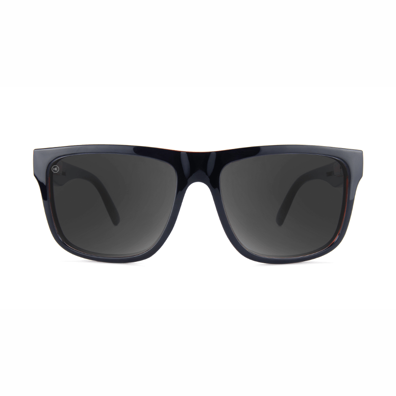 lenoor crown knockaround torrey pines sunglasses glossy black brick geode smoke
