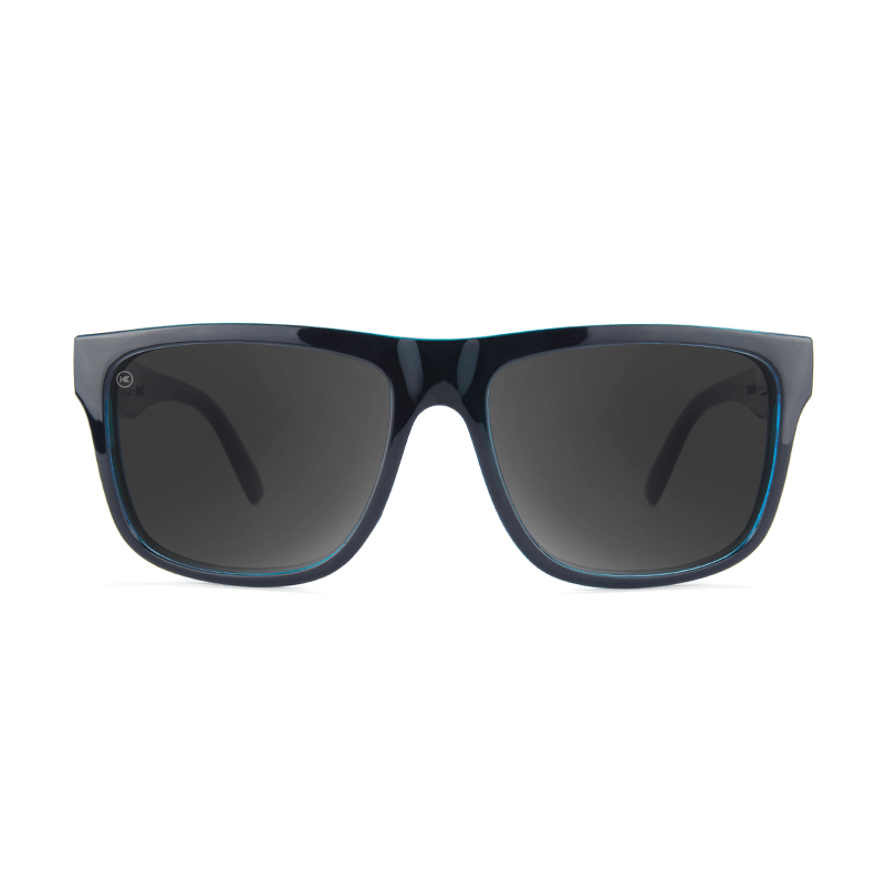 lenoor crown knockaround torrey pines sunglasses glossy black ocean geode smoke
