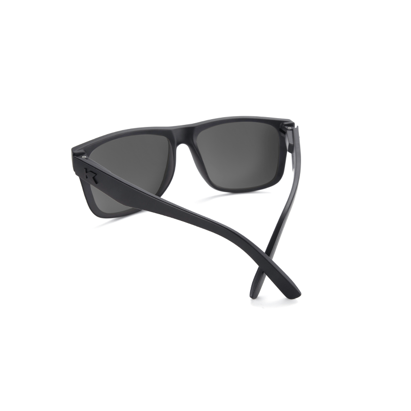 lenoor crown knockaround torrey pines sunglasses black on black sky blue