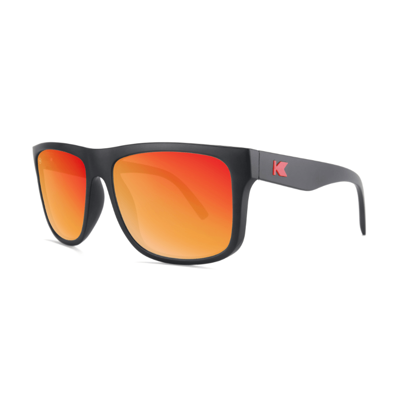 lenoor crown knockaround torrey pines sunglasses matte black red sunset