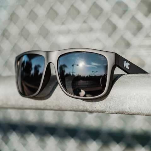 lenoor crown knockaround torrey pines sunglasses matte black smoke