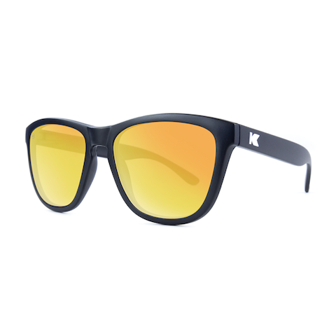 lenoor crown knockaround premiums sunglasses black sunset