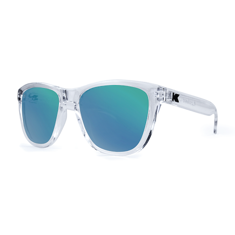 lenoor crown knockaround premiums sunglasses clear green moonshine