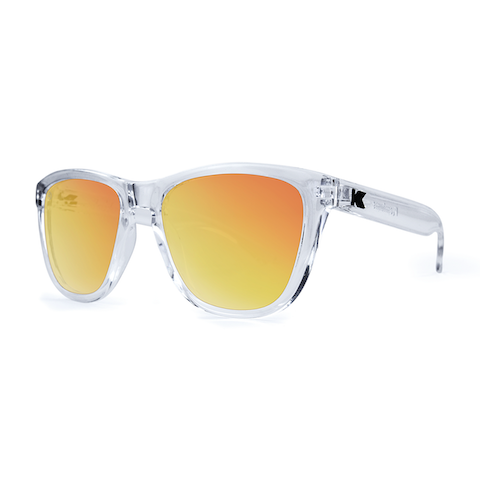 lenoor crown knockaround premiums sunglasses clear red sunset