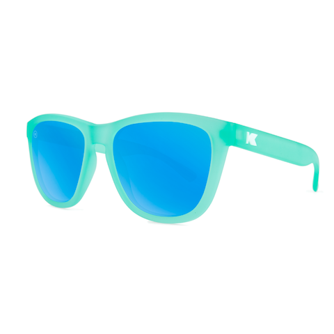 lenoor crown knockaround premiums sunglasses frosted rubber mint aqua