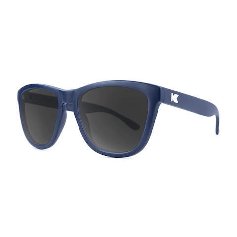 lenoor crown knockaround premiums sunglasses navy blue smoke