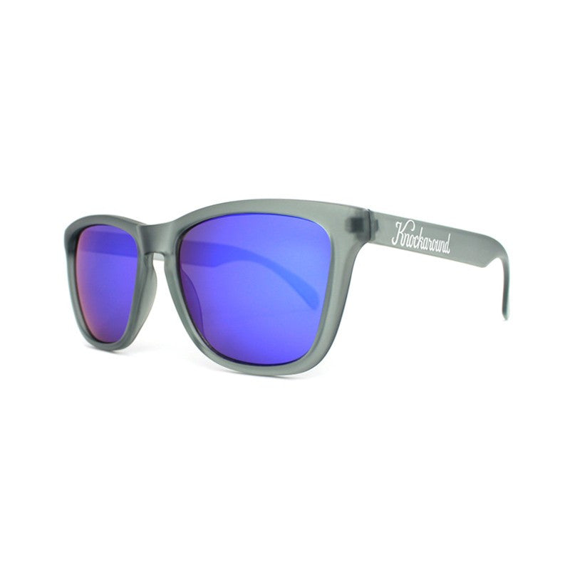 lenoor crown knockaround classics sunglasses frosted grey moonshine