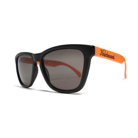 lenoor crown knockaround classics sunglasses black and orange