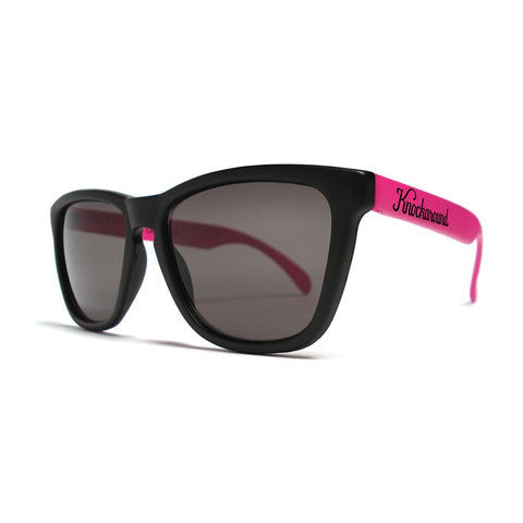 lenoor crown knockaround classics sunglasses black and pink