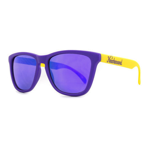 lenoor crown knockaround classics sunglasses purple and yellow purple