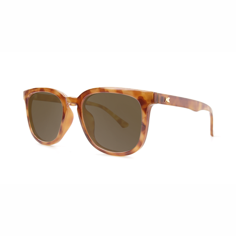 lenoor crown knockaround paso robles sunglasses blonde tortoise shell amber